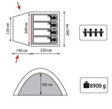 <b>Палатка Sol Anchor 4</b> SLT-032.06 синий купить за 11 900 руб. в ...
