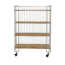 red wood color kitchen carts