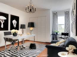 black white office eclectic home office library san francisco by rachel blindauer interior design black and white home office