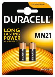 <b>MN21</b> - <b>DURACELL</b> - Battery, Plus Power, Pack of 2