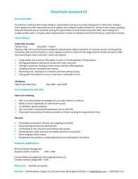 retail assistant cv retail sales assistant cv objective for resume in retail