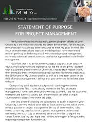 writing mba statement of purpose for project management professional mba statement of purpose for project management