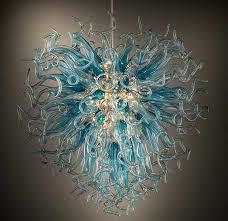 Luxury Golden Flower <b>Chandelier</b> Light <b>Murano Glass Plates</b> Art ...