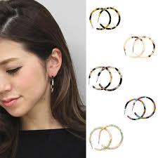 Earring Leopard Acetate Acrylic <b>Korean Amber Vintage</b> | Shopee ...