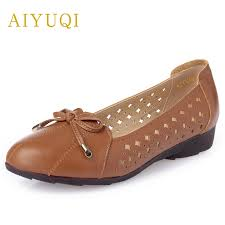 <b>AIYUQI</b> Plus Size 42# genuine Leather <b>Women's Flats shoes</b> ...