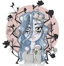 <b>Corpse Bride Cartoon</b> Cute Girl Character | Royalty-Free Stock Image
