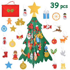 MOMSIV 3D <b>DIY Felt Christmas</b> Tree Set for Toddlers <b>Kids Children</b> ...