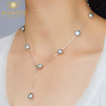 Best value <b>Real</b> White <b>Pearl Necklace</b> with <b>Pendant</b> – Great deals ...