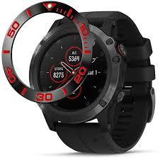 Shan-S Watch Ring <b>Adhesive</b> Cover for Garmin Fenix <b>5X</b> Plus ...