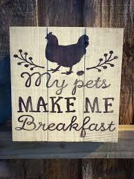 Rooster Chicken Kitchen Decor Chicken Signs Etsy