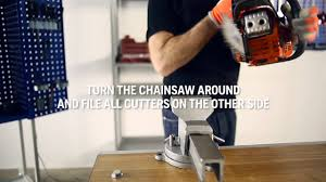 How to sharpen a chainsaw chain - YouTube