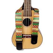 <b>Adjustable</b> Hawaii <b>Guitar Strap</b> National Style <b>Printing</b> Thicken ...