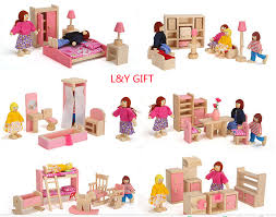 wooden furniture doll house bathroomhallbedroom cheap wooden dollhouse furniture