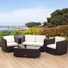 image of outdoor rattan furniture seating black outdoor furniture