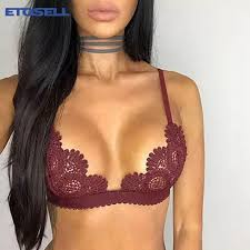 Buy Crop Top <b>Sexy</b> Sheer <b>Bralette</b> Push Up <b>Lace Bralette</b> Mesh ...