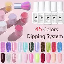 45 Colors <b>NICOLE DIARY Dipping</b> System <b>Powder Nail</b> Art Dust Art ...