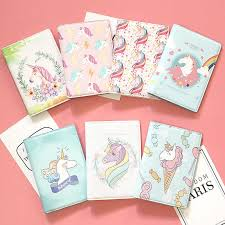 Lovely <b>unicorn</b> girl travel abroad <b>passport</b> bag protective cover ...