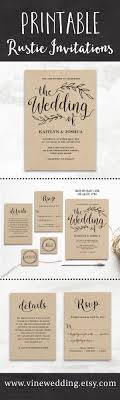 beautiful rustic wedding invitations editable instant beautiful rustic wedding invitations editable instant templates you can print as many as you need wedding invitations vinewedding