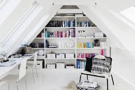 attic home office decor maximizing small space black white home office cococozy 5