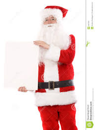 santa holding a white card royalty stock photography image santa holding a white card
