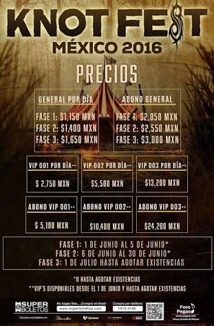 Se cancela knotfest 2016 México.