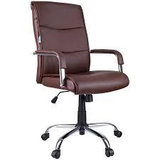 <b>Кресло руководителя Helmi HL-E08</b> Receipt, экокожа коричневая ...