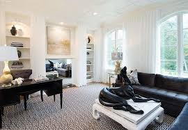 white is the dominant hue in this shabby chic home office design tiffany black and white office design