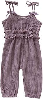 OAKFashion 0-24M Baby Girl Jumpsuit Sleeveless ... - Amazon.com