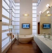 modern bathroom with white color themes and light fixtures bathroom lighting tips