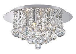 <b>Modern</b> Elegant <b>Round Chandelier</b> Ceiling Light Crystal Droplets ...