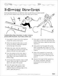 following directions worksheet trick   intrepidpath worksheet for following directions trick the best and most
