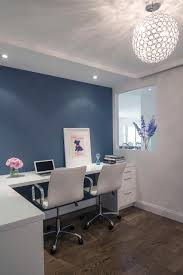 home office living blue gray accent wall office accent office interiors