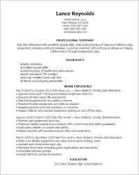 Professional Kids Club Attendant Templates to Showcase Your Talent