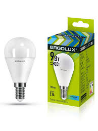 Набор из 10 светодиодных <b>лампочек</b> LED <b>9W</b> 4500К <b>E14 Ergolux</b> ...
