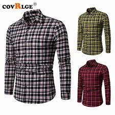 <b>2019 Covrlge Brand</b> Drop Shipping Men Plaid Shirt Long Sleeve ...