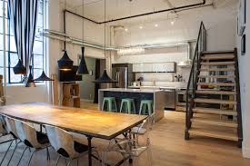 industrial kitchen furniture awesome modern industrial kitchen design with wooden dining table stairs and modern pendant bathroomwinsome rustic master bedroom designs industrial decor