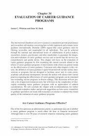 evaluation of career guidance programs springer inside