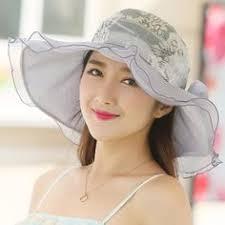 Women Floppy Hat Big Bowknot Straw Hat Wide Brim Beach Hat ...