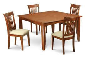 Set Of 4 Dining Room Chairs 5 Piece Dining Table Set For 4 Square Dining Table With Leaf And 4