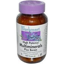 Мультиминералы, Multiminerals, Bluebonnet Nutrition, 180 капсул ...