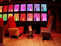 led lighting interiors with red shade for cafe bar area cafe lighting design