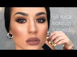BROWN SMOKEY <b>EYES</b> | Full <b>Face Makeup</b> Tutorial - YouTube