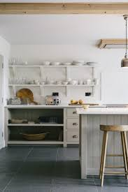 guy kitchen meg: stylish open shelving and neutral colours in devols henley on thames kitchen