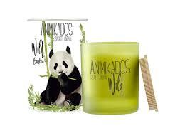 "<b>Свеча ароматическая</b> ""<b>panda</b>"" (<b>Ambientair</b>) зеленый стекло 9 см ..."