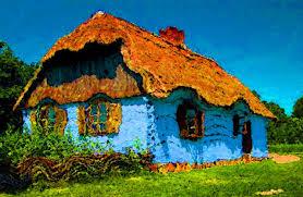 Znalezione obrazy dla zapytania dom kryty strzechą