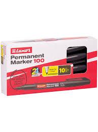 """<b>Маркер</b> перманентный """"100"""" черный, пулевидный, 1-2мм, 10 шт ..."""