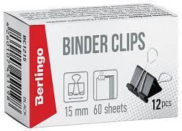 Berlingo <b>Зажимы</b> для бумаг 15мм BC1215 (<b>12 шт</b>.) — купить по ...