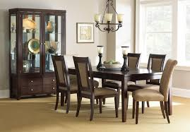 Formal Dining Room Sets With China Cabinet Steve Silver Wilson Contemporary Dark Brown China Cabinet With