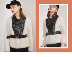 <b>Young Gee</b> Winter <b>Women</b> Warm Slim Faux Fur PU Leather Coats ...