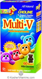 Yum V's Kosher <b>Multi</b>-<b>V</b> + <b>Multi Mineral</b> Fomula with Choline ...